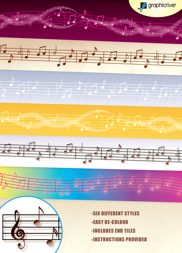 Music Vector Brushes - Brushes Illustrator