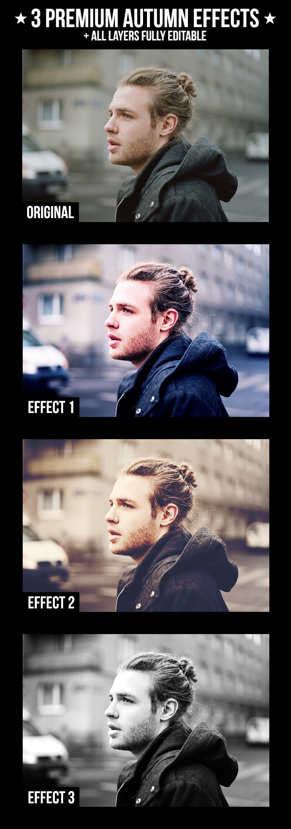 3 Premium Autumn Effects - Photo Effects Actions