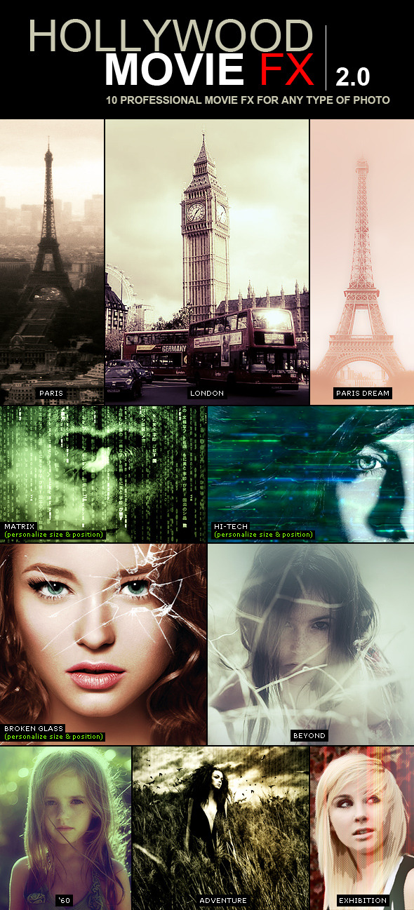 Hollywood Movie FX 2.0 | 10 Amazing Efects - Photo Effects Actions