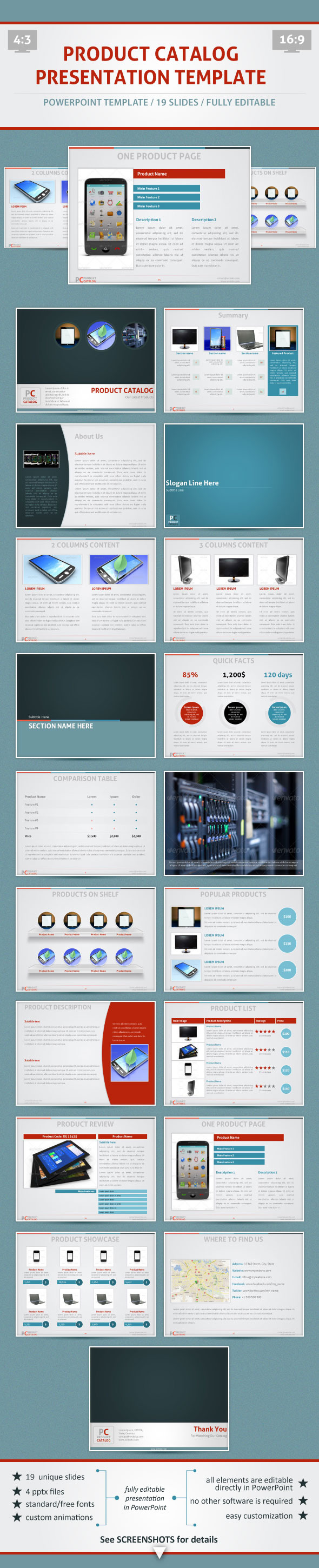 Product Catalog - PowerPoint Template - PowerPoint Templates Presentation Templates
