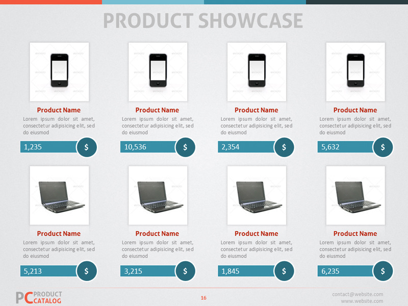 product catalog powerpoint template by adriandragne graphicriver. Black Bedroom Furniture Sets. Home Design Ideas