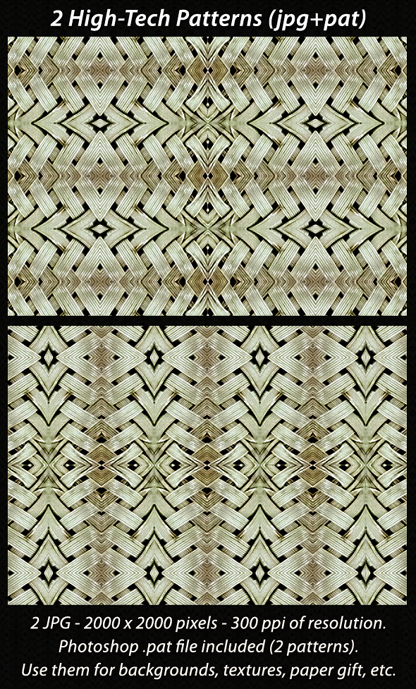 2 High-Tech Patterns - Textures / Fills / Patterns Photoshop
