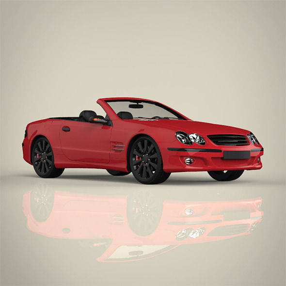 Convertible Car - 3DOcean Item for Sale