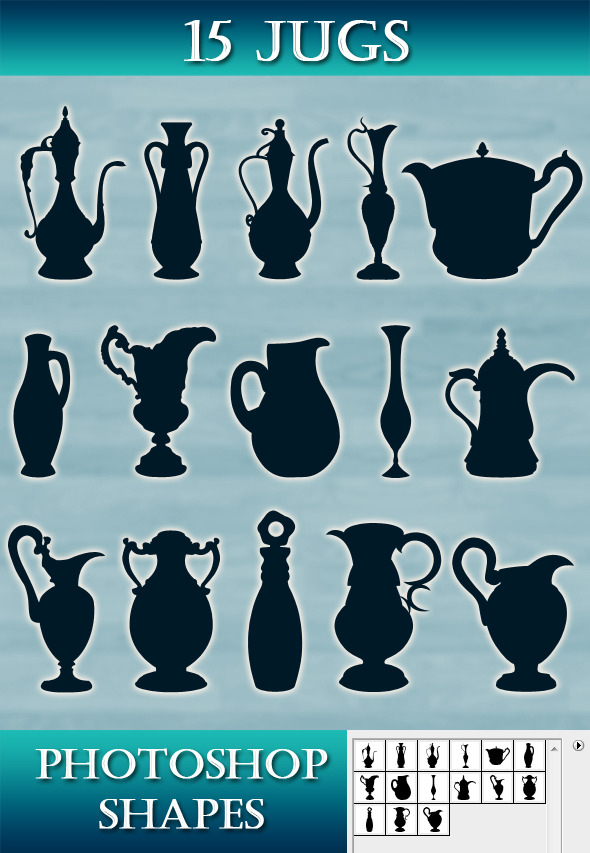 Jugs collection - Objects Shapes