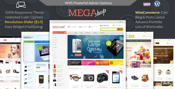 Mega Shop – WooCommerce Responsive Theme