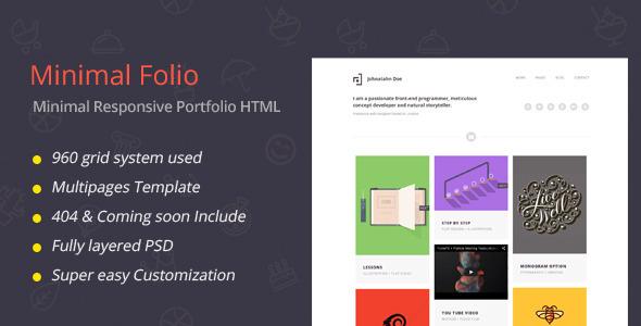 Minimal Folio - Responsive Portfolio Template - Art Creative