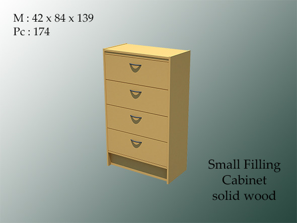 small filling cabinet wood - 3DOcean Item for Sale