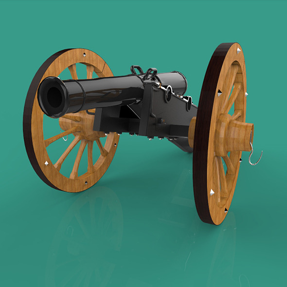 Field Gun - 3DOcean Item for Sale