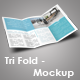 Trifold Brochure Mockup Set - GraphicRiver Item for Sale