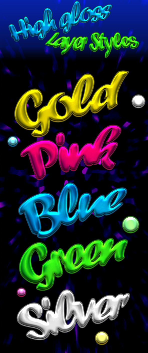 High Gloss Text-Styles - Text Effects Styles