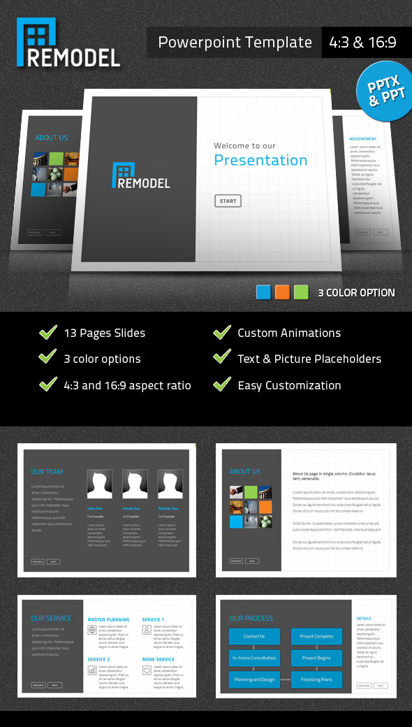 Remodel Powerpoint Presentation Template - PowerPoint Templates Presentation Templates