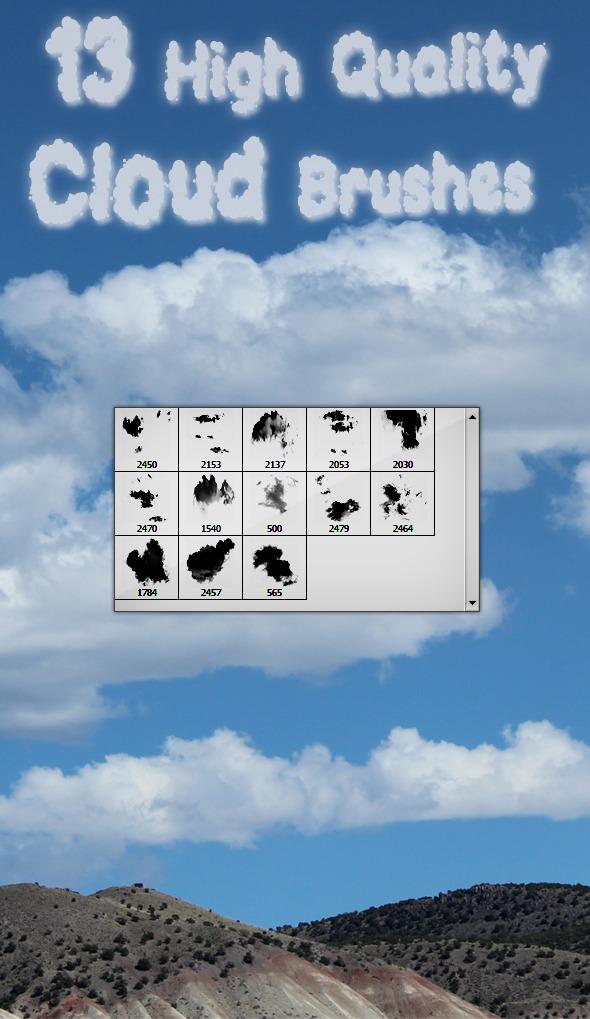 Clouds Brushes - Brushes Photoshop