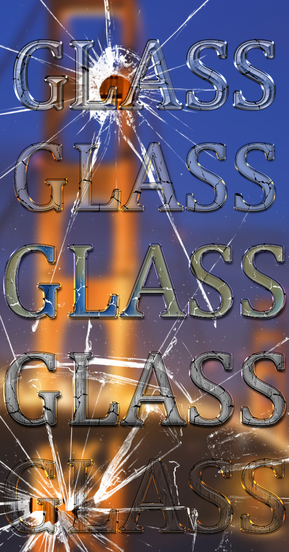 Cracked Glass Styles - Text Effects Styles
