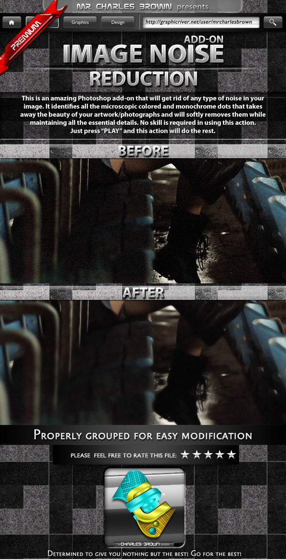 Noise Reduction - Photo Effects Actions