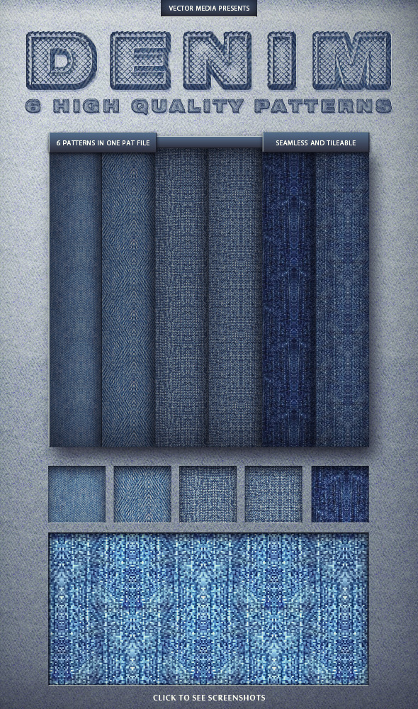 Seamless Denim - Photoshop Patterns - Textures / Fills / Patterns Photoshop