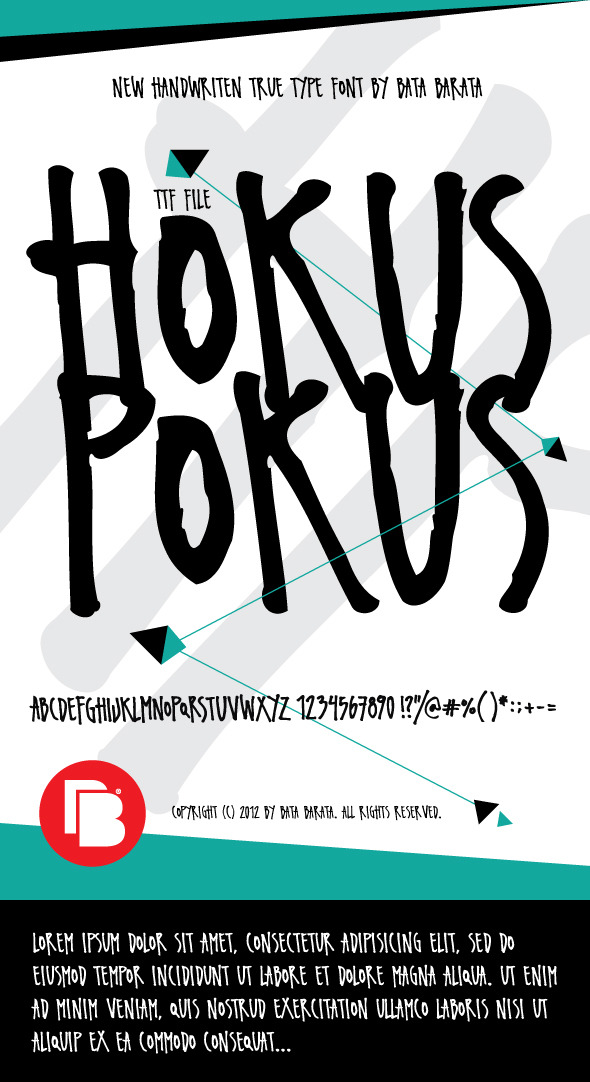 Hokus Pokus - Handwriting Fonts