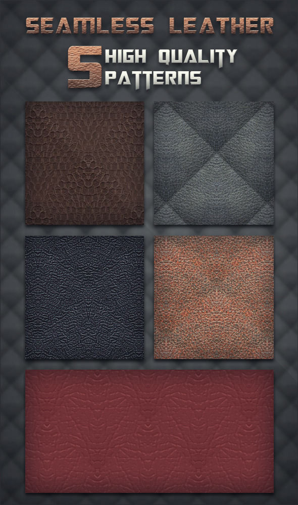 Seamless Leather - Photoshop Patterns - Miscellaneous Textures / Fills / Patterns