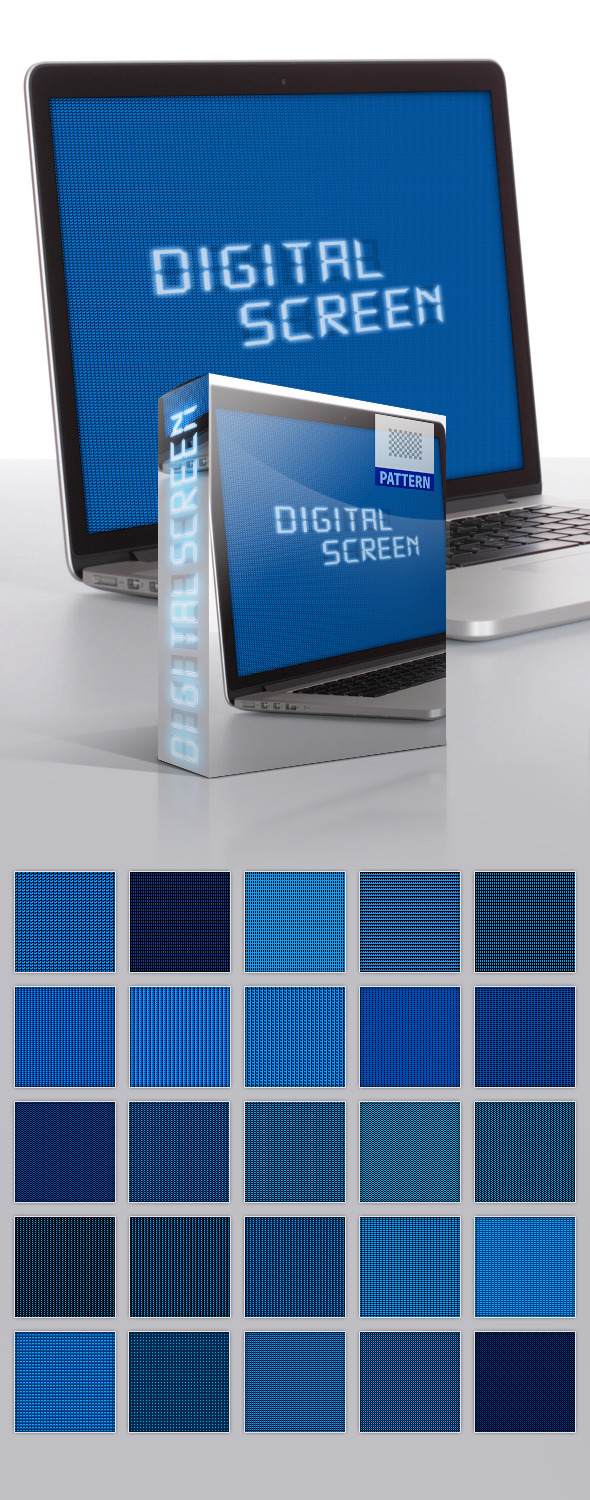 Digital Screen Patterns - Textures / Fills / Patterns Photoshop