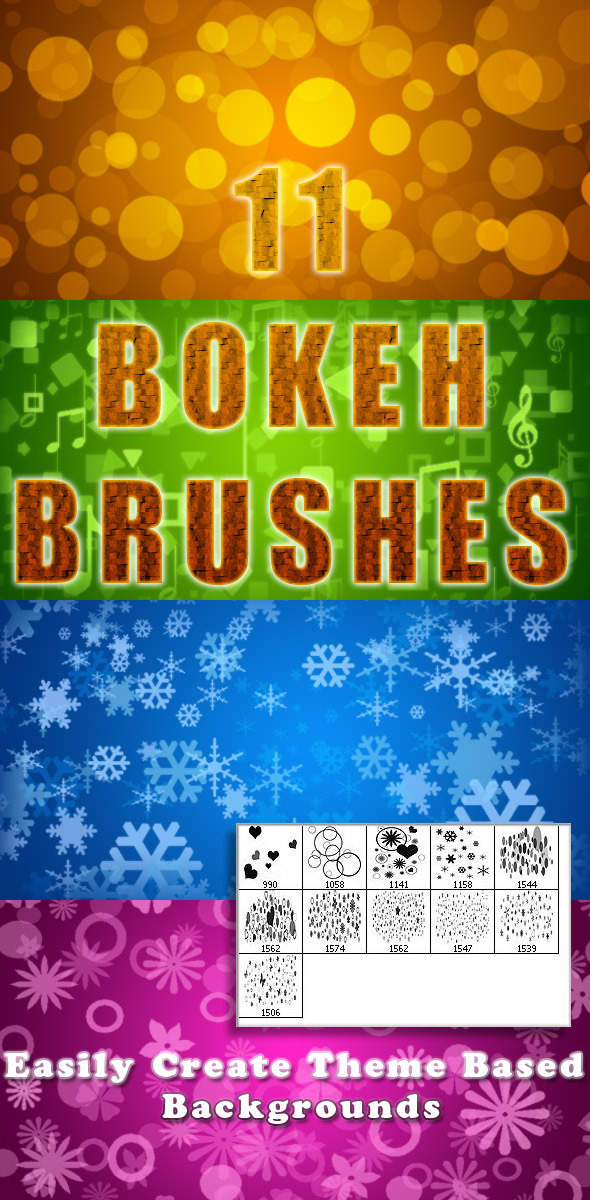 11 Bokeh Brushes - Miscellaneous Brushes