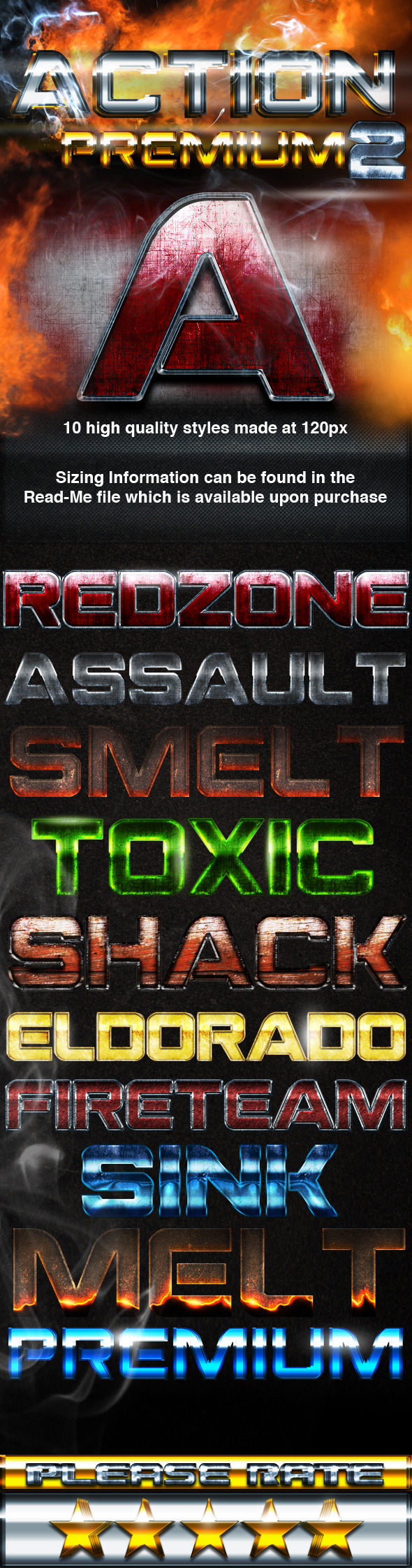 Action Premium 2 Styles - Text Effects Styles