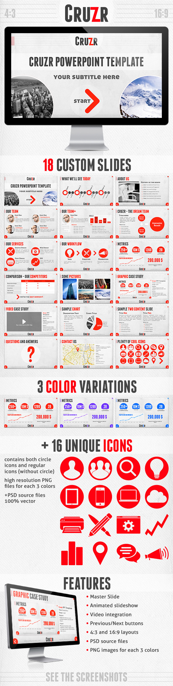 Cruzr PowerPoint Template - Creative PowerPoint Templates