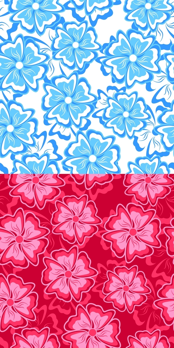 Blue and Crimson Seamless Background - Textures / Fills / Patterns Illustrator