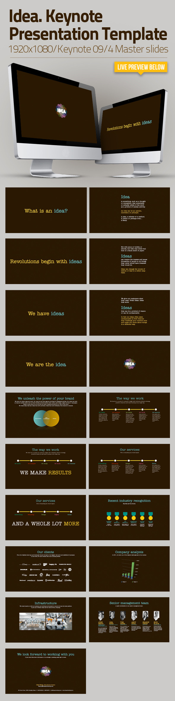 Idea | Keynote Presentation Template - Business Keynote Templates