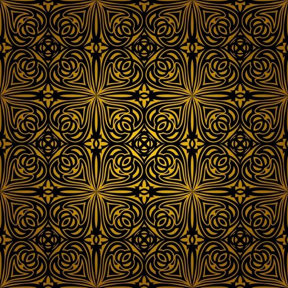 Seamless Dark Ornament - Textures / Fills / Patterns Illustrator