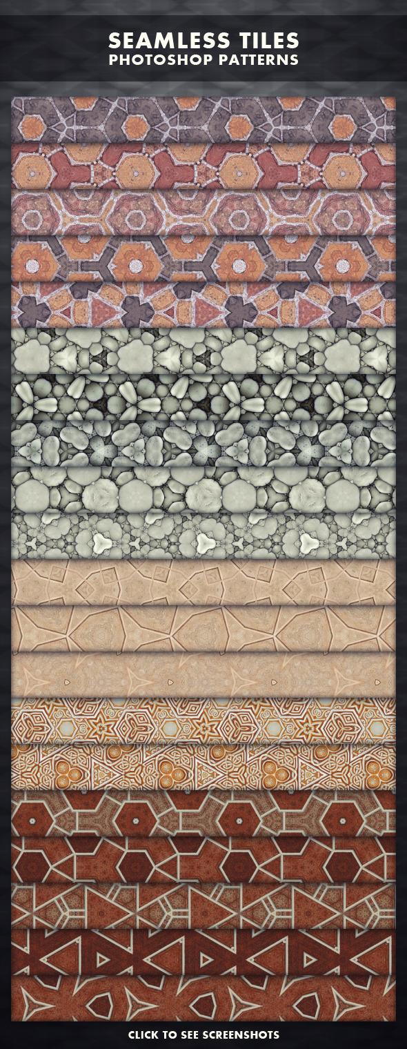 Seamless Tiles - Photoshop Patterns - Artistic Textures / Fills / Patterns