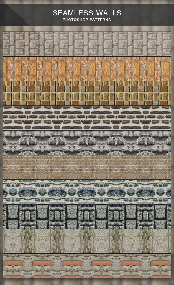 Seamless Walls - Photoshop Patterns - Urban Textures / Fills / Patterns