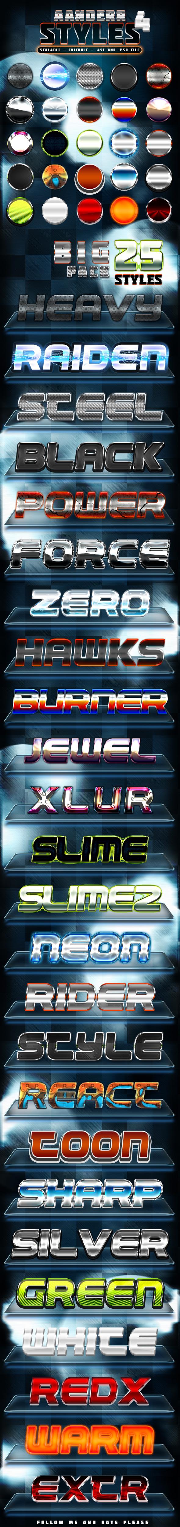 Aanderr Styles 4 - Big Pack - Text Effects Styles