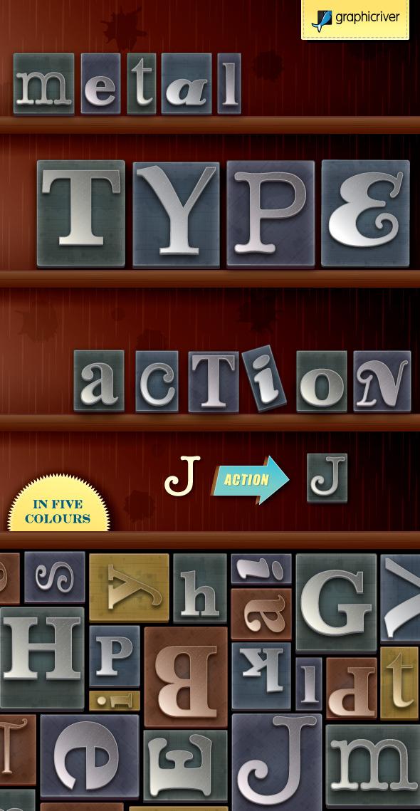 Metal Type Print Block Generator - Actions Illustrator