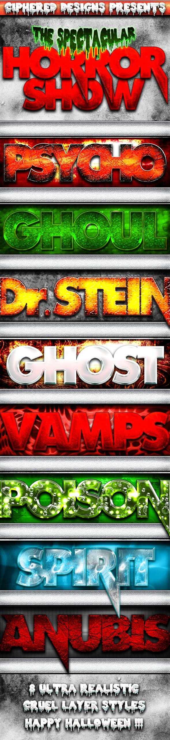 Horror Show - Premium Halloween Styles - Text Effects Styles