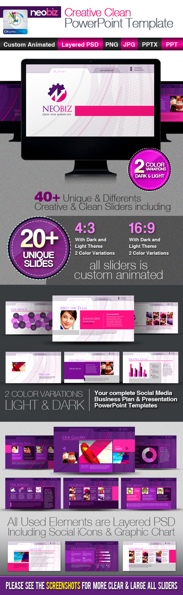 NeoBiz Corporate Creative PowerPoint Templates - Business PowerPoint Templates
