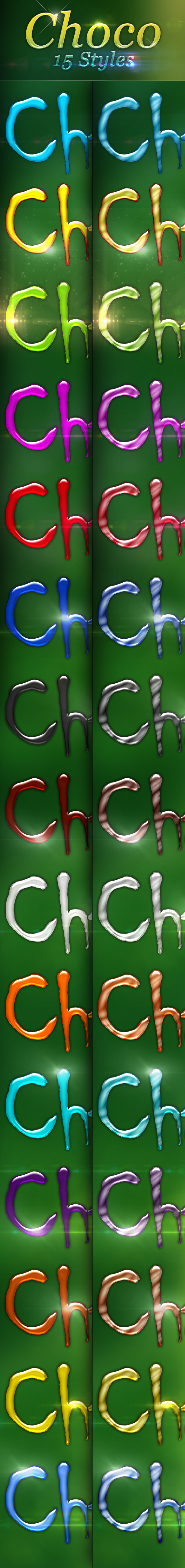 Choco  Layer Styles  - Text Effects Styles