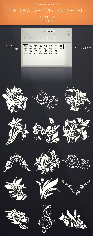 Decorative Swirl - Brush Set - Flourishes Brushes
