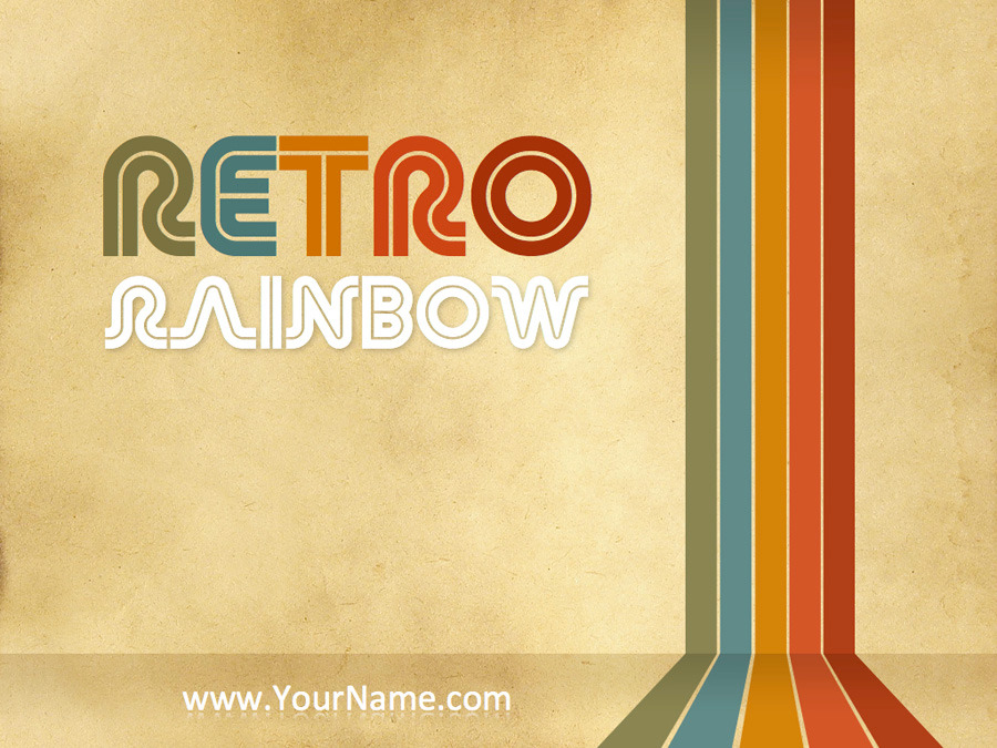 Retro rainbow powerpoint template by mauriziocattaneo graphicriver powerpoint templates presentation templates previewsretro rainbow001g toneelgroepblik Image collections