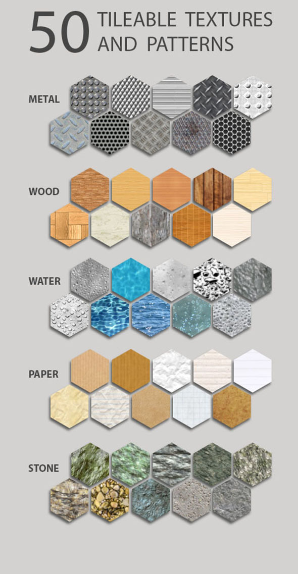 Pattern Tileable Pack V1 - Textures / Fills / Patterns Photoshop