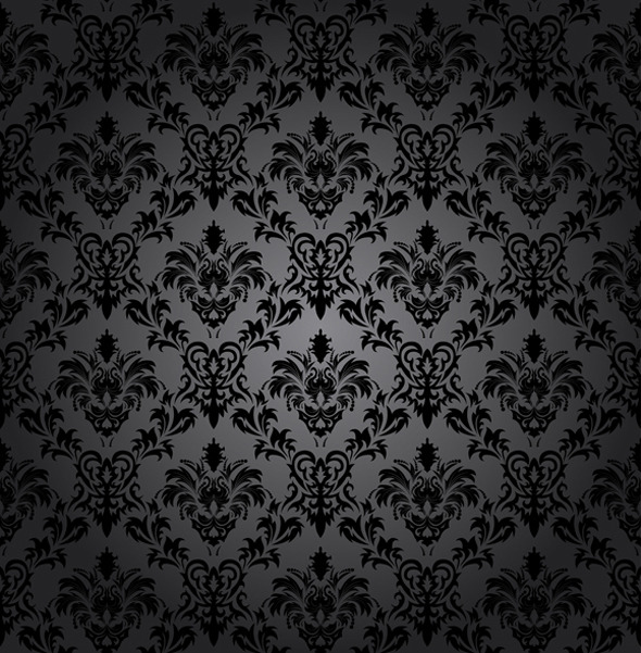 Seamless Damask Pattern - Textures / Fills / Patterns Illustrator
