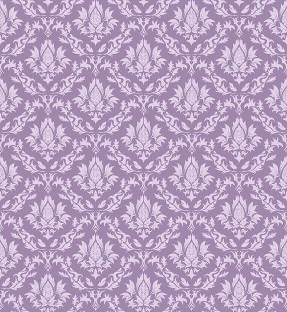 Seamless Damask Pattern - Textures / Fills / Patterns Illustrator