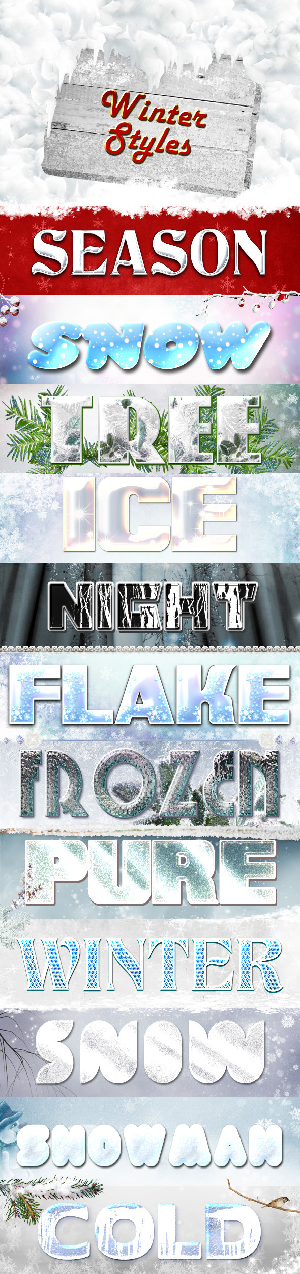 Winter Styles - Text Effects Styles