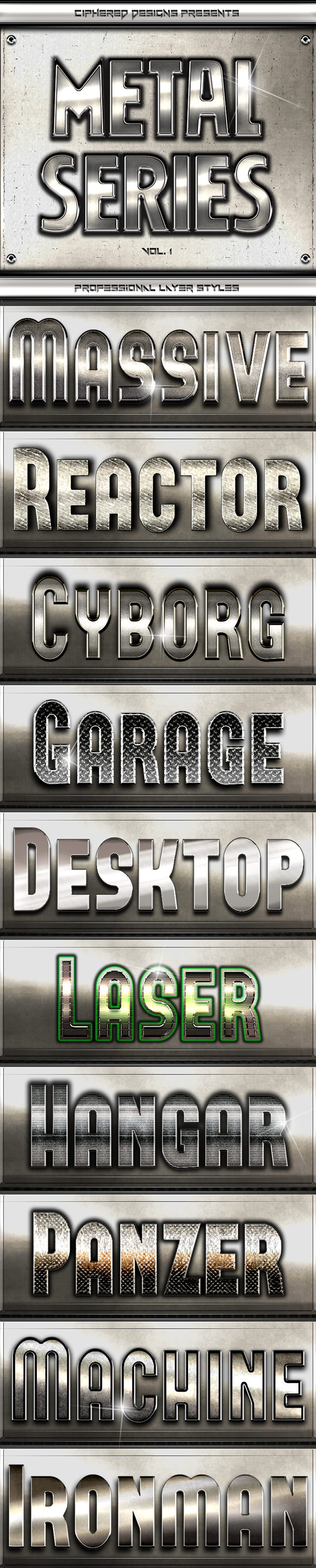 Metal Series - Professional Layer Styles - Text Effects Styles