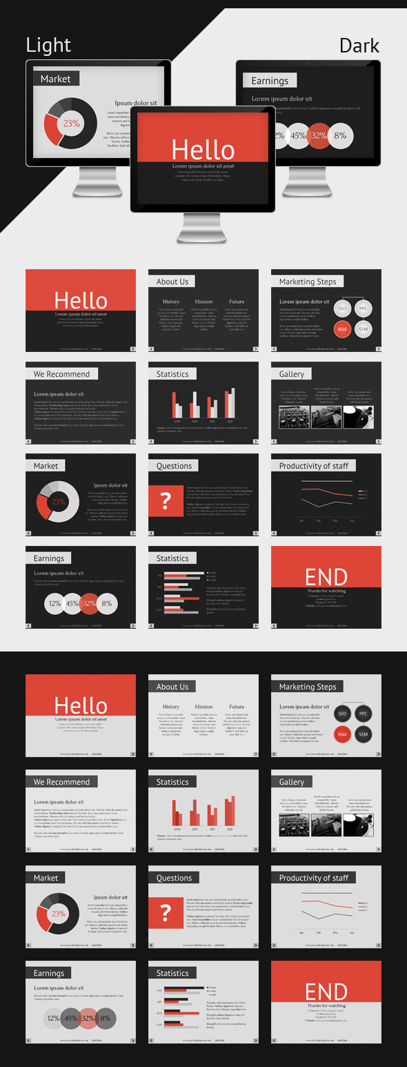 Keynote Corporate Presentation Template - Business Keynote Templates