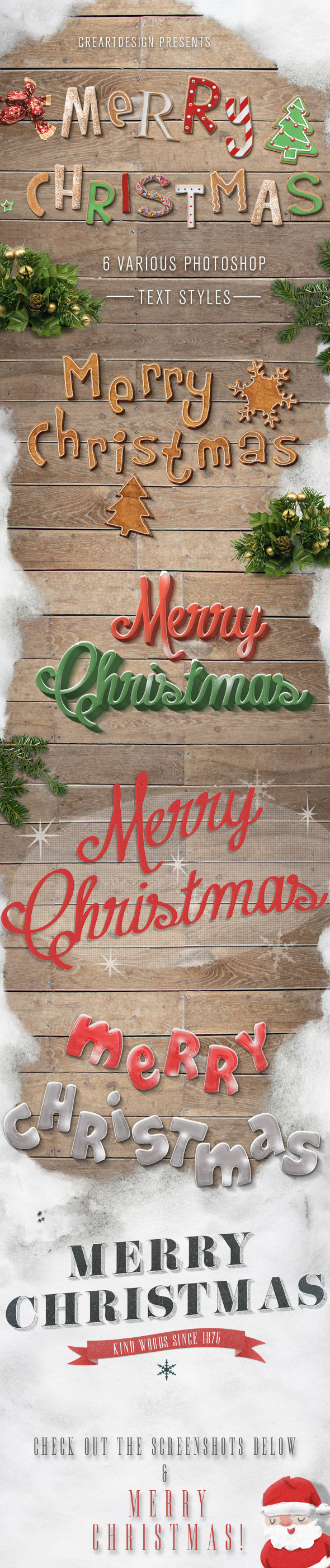 Christmas Text Effects And Styles for Photoshop - Text Effects Styles