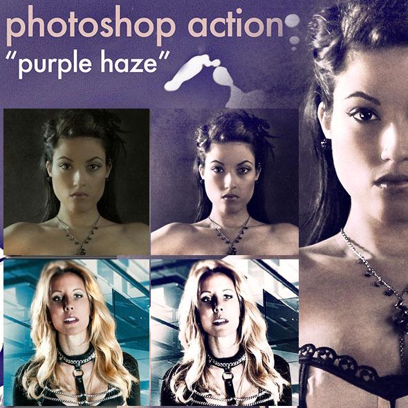 "Photoshop Action ""Purple Haze"" - Photo Effects Actions"