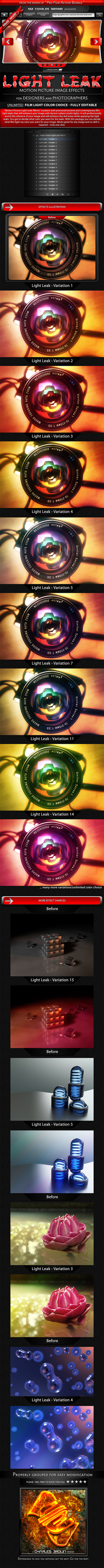 Motion Picture Light Leak Effects - Photo Effects Actions