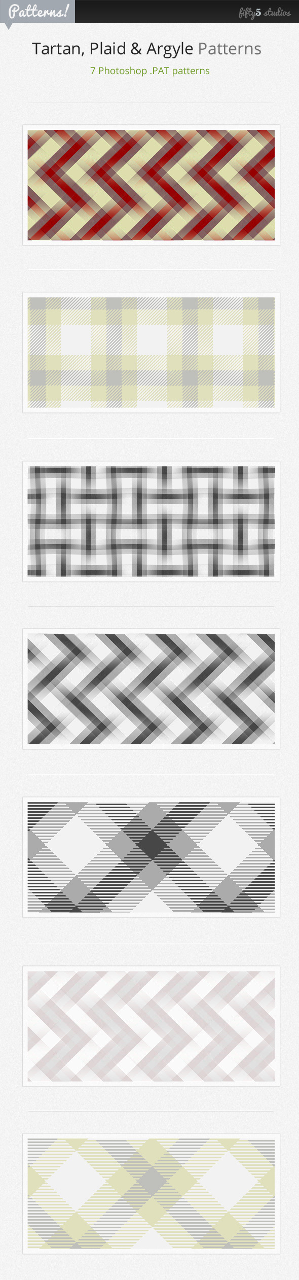 7 Tartan, Plaid & Arglye Patterns - Textures / Fills / Patterns Photoshop