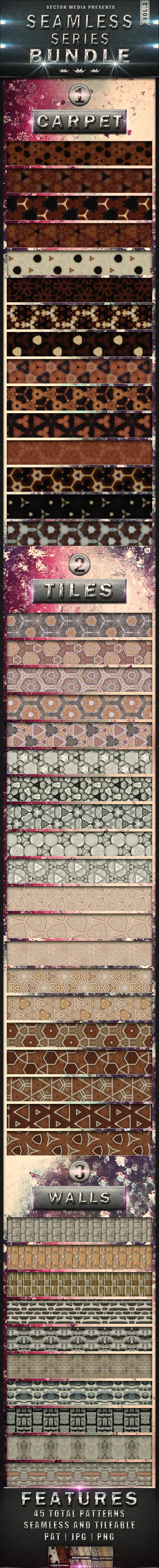 Seamless Series - Bundle Vol.2 - Textures / Fills / Patterns Photoshop