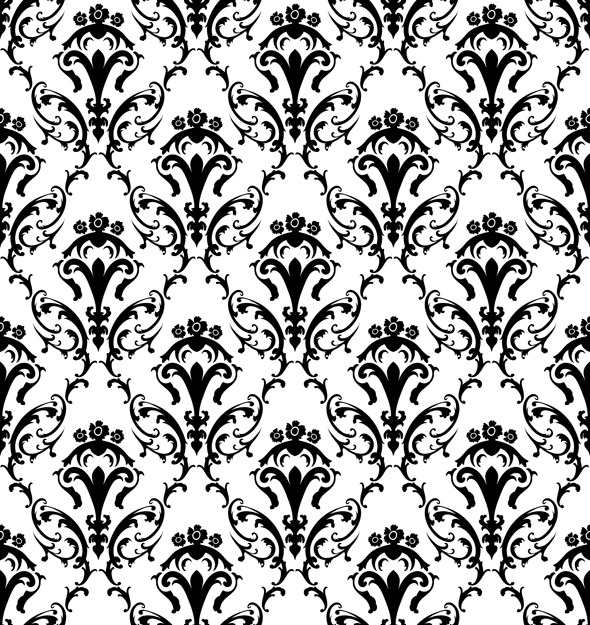 Damask Seamless Pattern - Textures / Fills / Patterns Illustrator