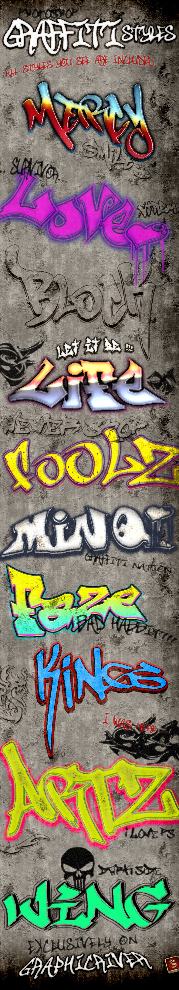 Graffiti Styles - Text Effects Styles